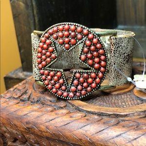 Jewelry - Red Star Leather Bracelet